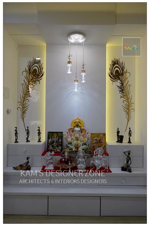 Mandir Interior Design: classic Dining room by KAM'S DESIGNER ZONE