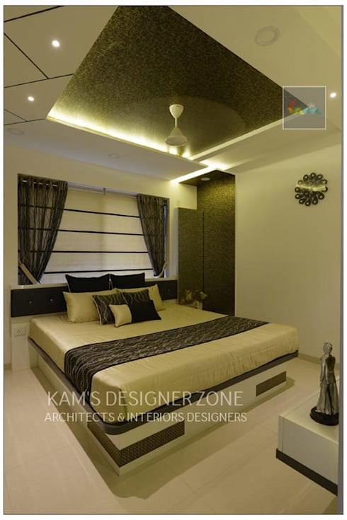 Bedroom Interior Design: classic Bedroom by KAM'S DESIGNER ZONE