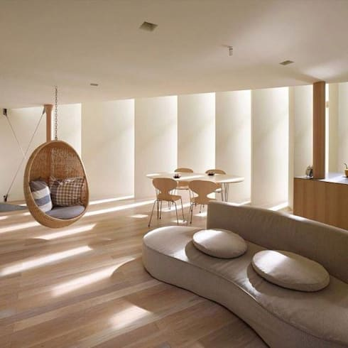 The Ideal Minimalist Space: minimalistic Living room by Spacio Collections