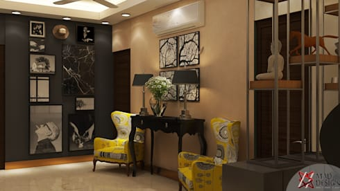 LIVING AREA VIEW 1: rustic Living room by MAD DESIGN