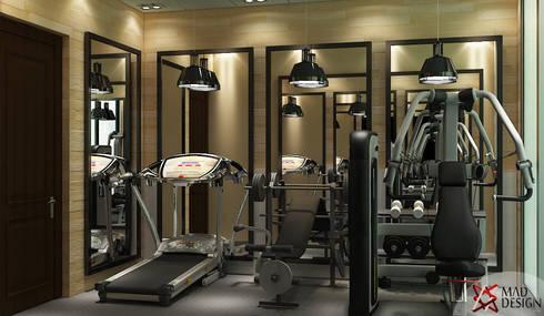 GYM AREA VIEW 1: modern Gym by MAD DESIGN