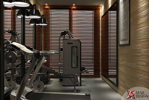 GYM AREA VIEW 2: modern Gym by MAD DESIGN