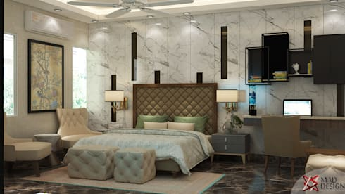 BEDROOM VIEW 1: modern Bedroom by MAD DESIGN