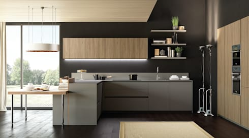 MT210 fenix / SINCRO wood:  廚房 by 義葳德名廚 E-CUCINE