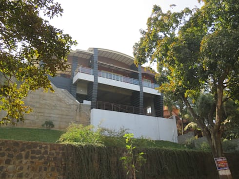 View from Lower Side Main Road:  Villas by Spacecraftt Architects