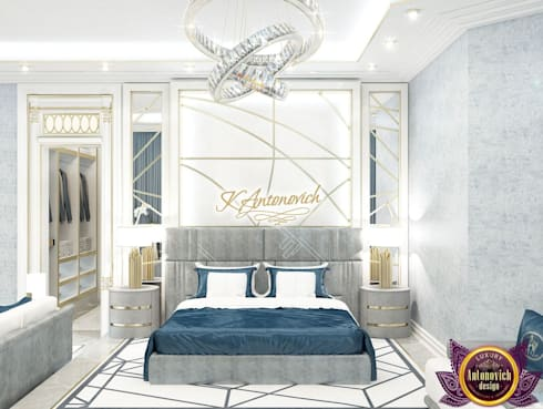 Modern interior design project in Dubai from Katrina Antonovich: modern Bedroom by Luxury Antonovich Design