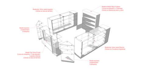 Especificaciones: Oficinas y tiendas de estilo  por Jorge Osorio Arquitecto