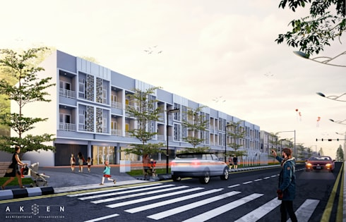 Dramaga Commercial:  Ruang Komersial by aksen architectural visualization