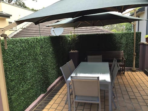 Artificial Boxwood Fence For Balcony Privacy Screening:  Balconies, verandas & terraces  by Sunwing Industrial Co., Ltd.