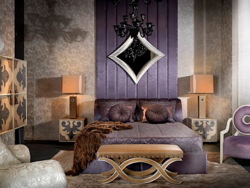 VALENTINA bedroom with Alba bed: modern Bedroom by S. T. Unicom Pvt. Ltd.