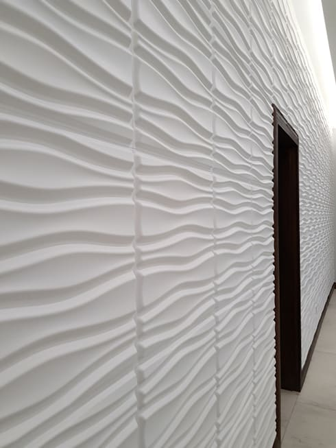 3D Board Installation—House Oosthuizen:  Walls & flooring by Leone Truter Interiors
