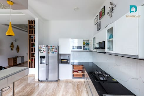 Mr Harsh's Residential Project- : modern Kitchen by Design  Cafe