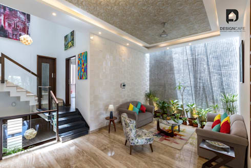 Mr Harsh's Residential Project- : modern Living room by Design  Cafe