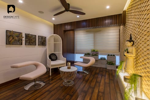 Ms Chaitras- Residential Project: modern Living room by Design  Cafe
