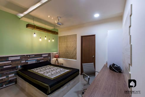 Palak and Vishal's- Residential Project: modern Bedroom by Design  Cafe
