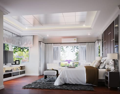 หมู่บ้าน Q house avenue พระราม5:   by IDG interior decoration studio Co.,Ltd.