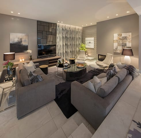 modern Living room by Spegash Interiors