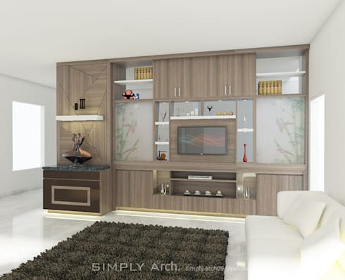 Front View:  Interior landscaping by Simply Arch.