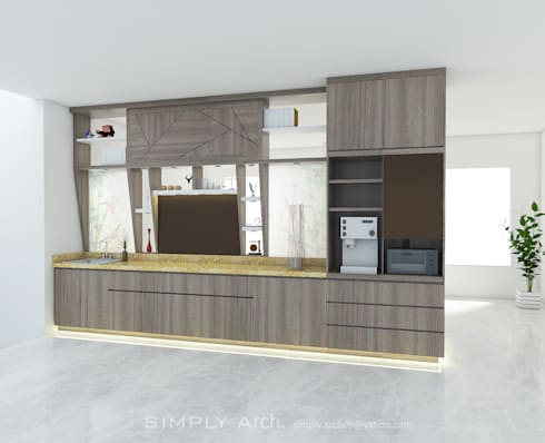 Back View:  Interior landscaping by Simply Arch.