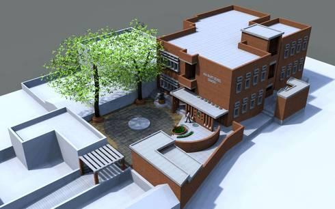 Maa Bharti Jr. School:  Country house by Ravi Prakash/Architect