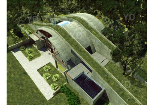Vivienda bioclimática y sustentable.: Casas ecológicas de estilo  por Arq. Yofrank Diaz