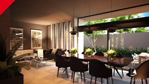 modern Dining room by Tectónico