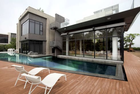 The Lake Dragon: minimalistic Pool by Clifton Leung Design Workshop