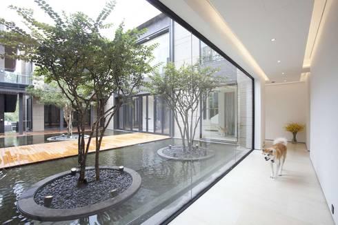 The Lake Dragon:  Corridor & hallway by Clifton Leung Design Workshop