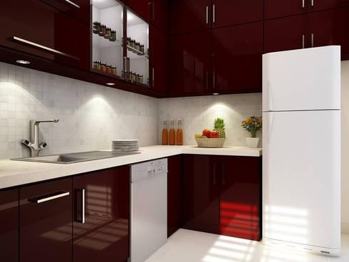 Modular Kitchen: modern Kitchen by themoonstudio