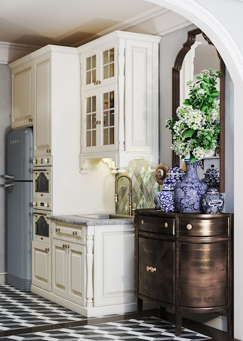 Colonial style - Tropic garden apartment:  Nhà bếp by V Design Studio