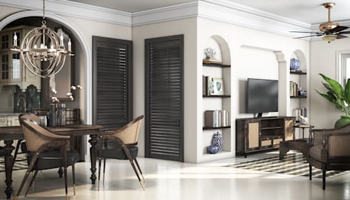 Colonial style – Tropic garden apartment:  Phòng khách by V Design Studio