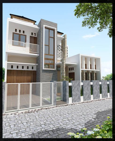 Rumah Bpk. Akhad:  Rumah by SUKAM STUDIO
