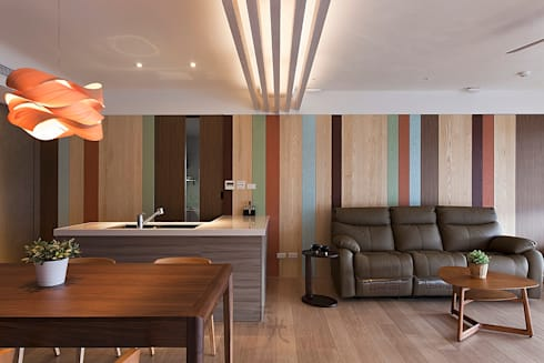 客餐廳:  客廳 by 禾光室內裝修設計 ─ Her Guang Design