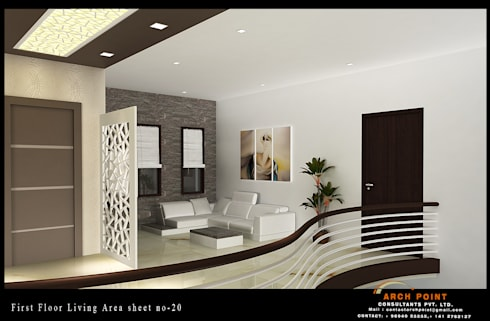 Living Space: modern Living room by Arch Point