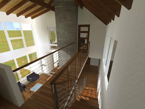 Vista interior puente interior:  de estilo  por artefacto arquitectura