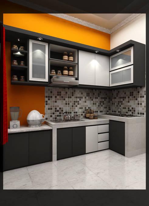 Kitchen Bpk. Indra:  Dapur by SUKAM STUDIO