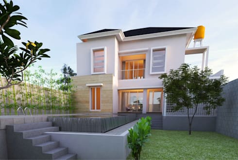 Fasade Belakang:   by Manasara Design&Build