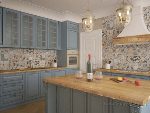 French country interior design: country Kitchen by Tamriko Interior Design Studio
