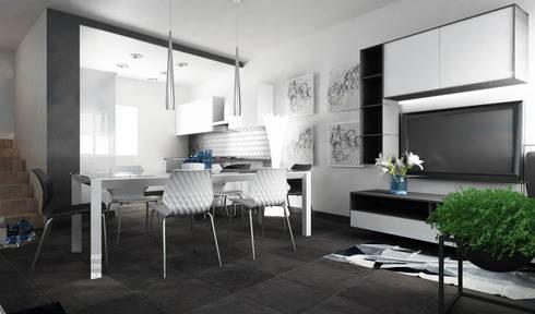 Progettazione soggiorno Verona per InteriorBe di SAMANTHA PASTRELLO ...