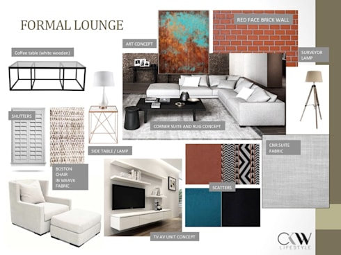 Interior Design Presentation for Loft Penthouse Johannesburg SA:   by CKW Lifestyle