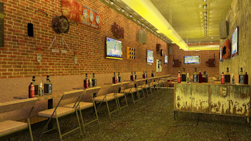 Sports Bar interiors by Antar - A Firm of Interior Designers | homify