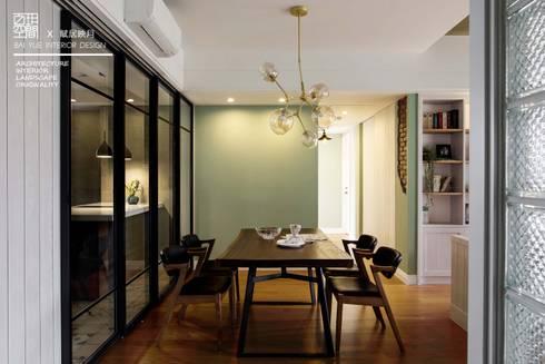 百玥空間設計 ─ 賦居映月 ─ 餐廳:  餐廳 by 百玥空間設計