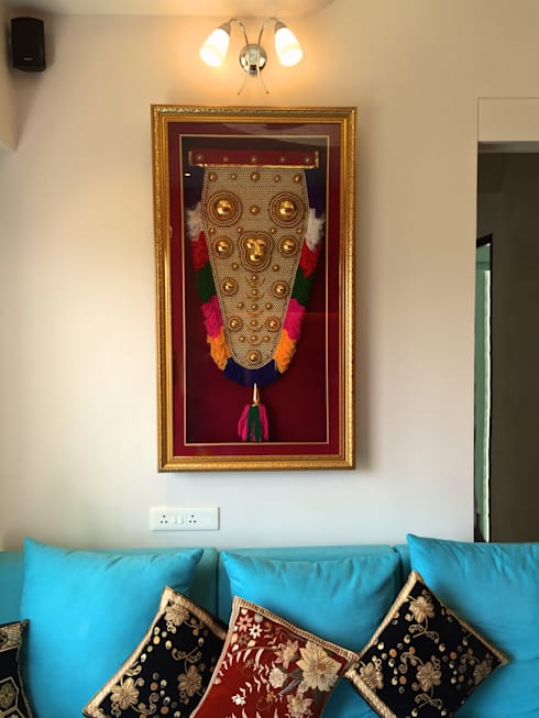 Residence at 4 Bungalows:  Living room by Design Kkarma (India)