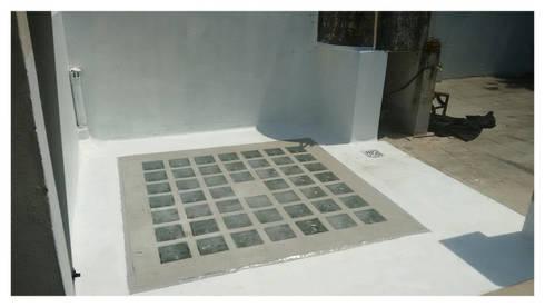 Techo de vidrio sobre escalera de kortesa arquitectura homify - Como colocar ladrillos de vidrio ...