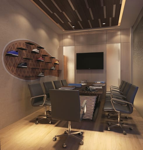 office space : modern Study/office by The Design Code