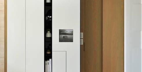 建構 ‧ 線 (住宅設計案 2014):  牆面 by 北歐制作室內設計
