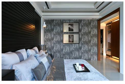 建構 ‧ 線 (住宅設計案 2014):  臥室 by 北歐制作室內設計