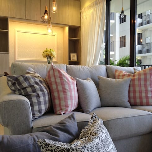Project @ River Isles: scandinavian Living room by ab1 Abode Pte Ltd