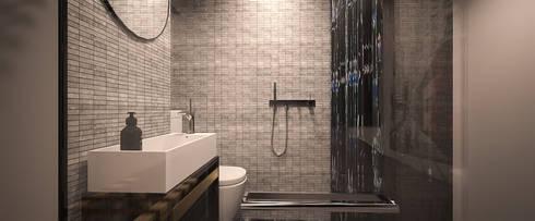 Atlas Guesthouse: minimalistic Bathroom by BIGGERTHANstudio