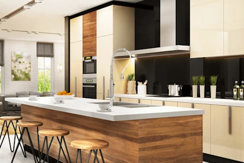 Residential: modern Kitchen by  Eminent Enterprise LLP